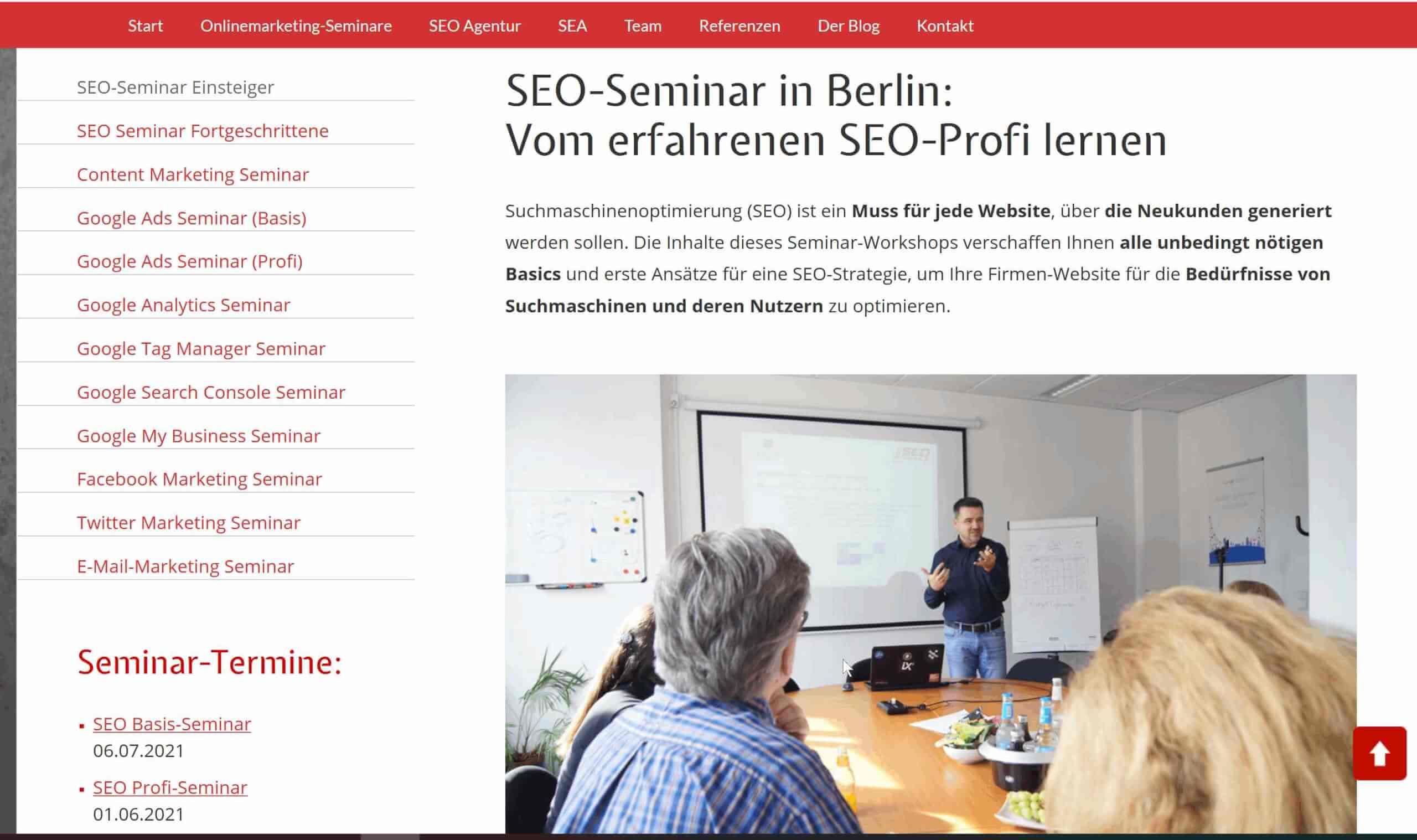 SEO Profis Berlin Einsteiger SEO Kurs