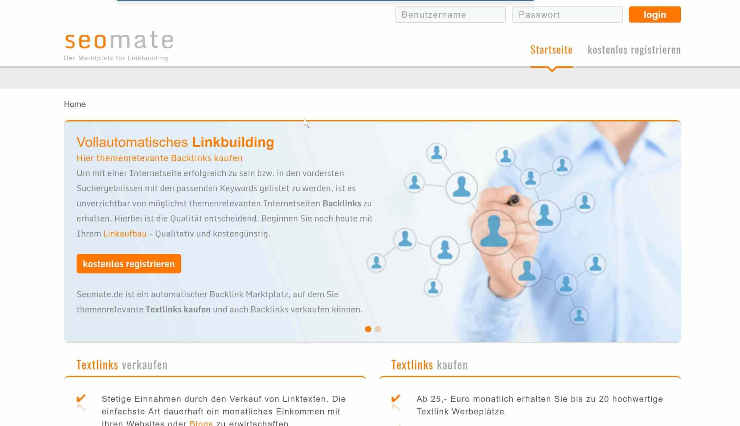 SEOmate als Backlinked Alternative