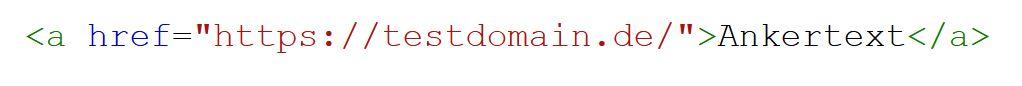 Standard Link in HTML