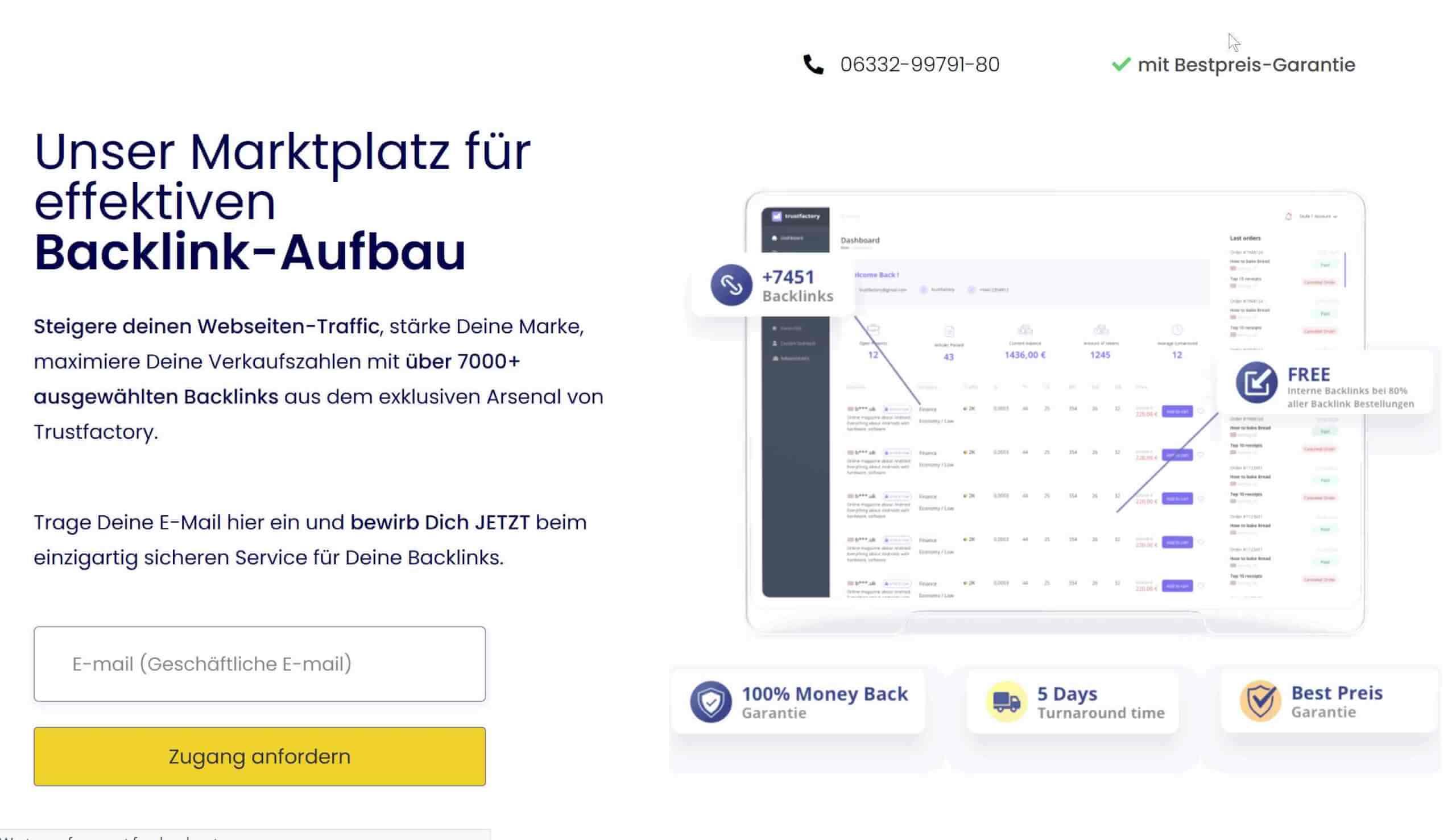 TrustFactory als Alternative fuer Backlinked