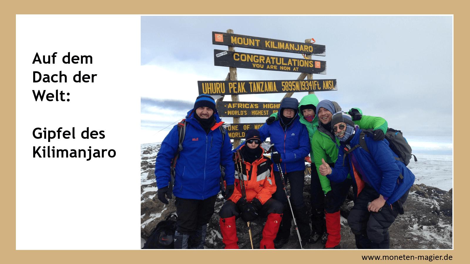 huerden finanziellen freiheit moneten magier kilimanjaro
