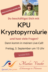 September, 03. um 15 Uhr / Kryptopyrrolurie