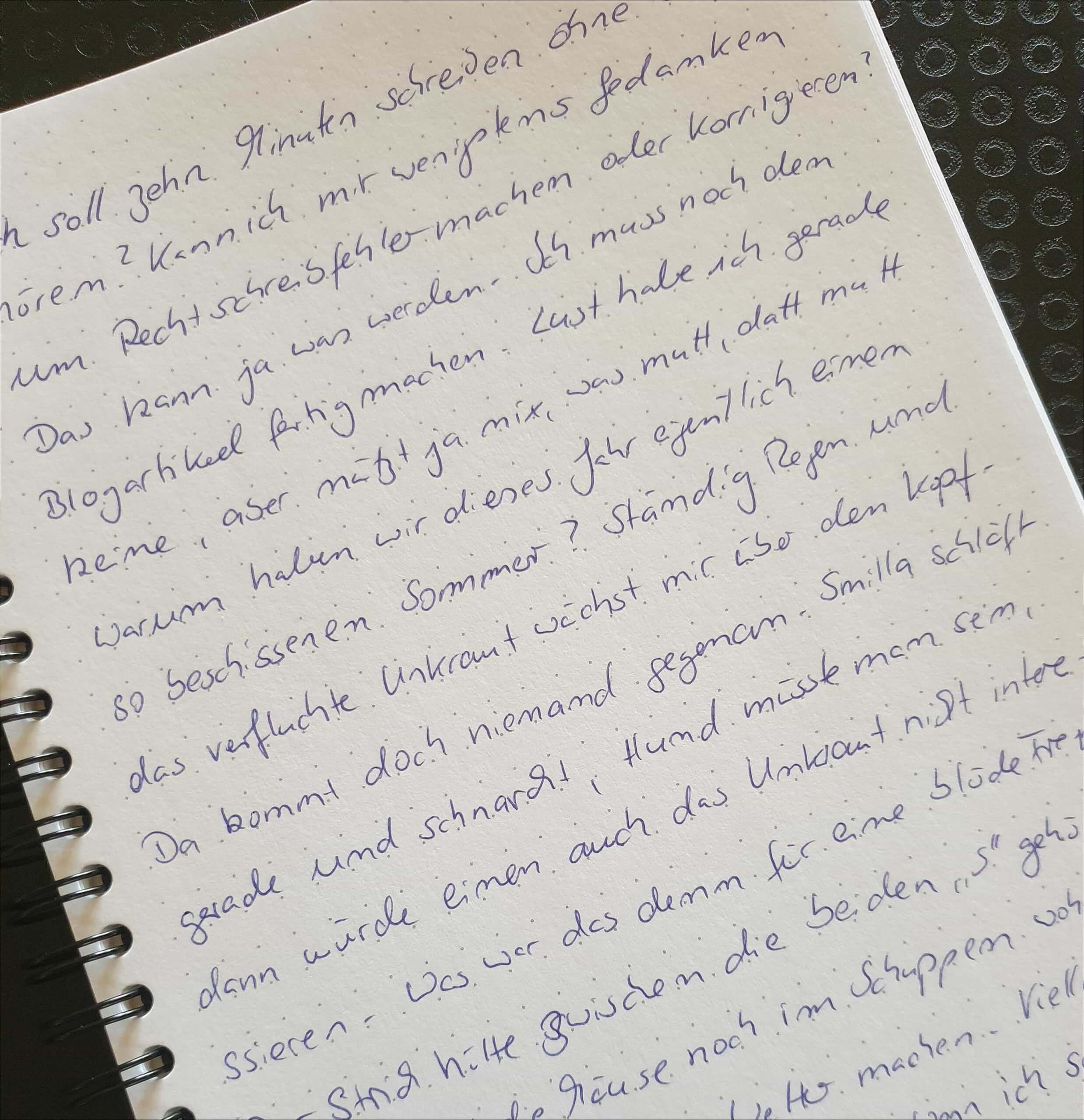 10 Minuten schreiben gegen die Schreibblockade