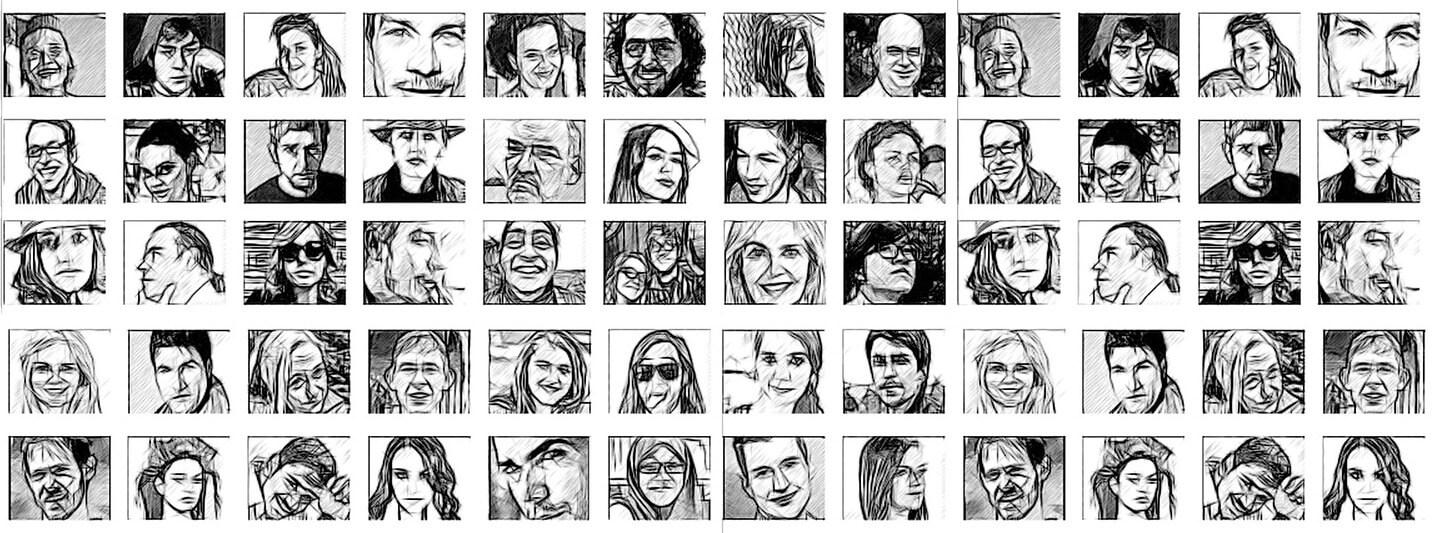 Gesichter Kreatives Schreiben